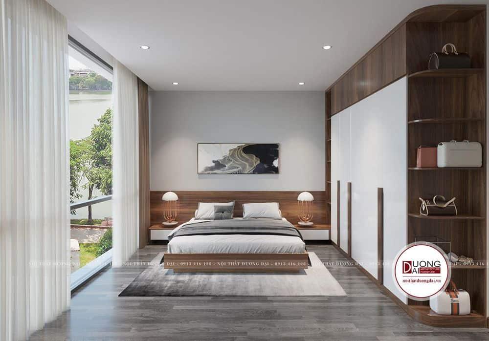 Phòng ngủ Master có không gian rộng và tầm nhìn siêu đẹp