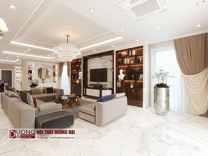 Cửa ra vào thiết kế nội thất biệt thự tân cổ điển Vincom Plaza Sơn La – Bác Khánh