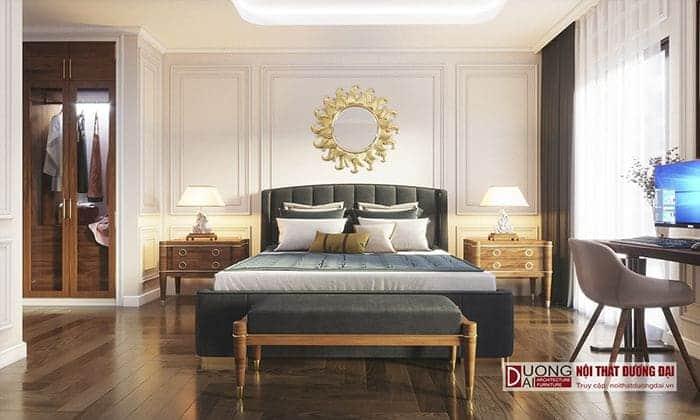 Thiết kế phòng ngủ Master sang trọng phong cách tân cổ điển