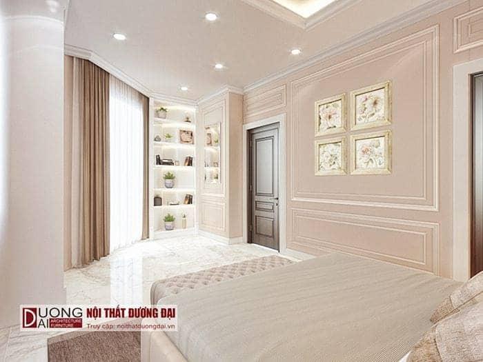 Phòng ngủ con gái thiết kế kế nội thất biệt thự tân cổ điển