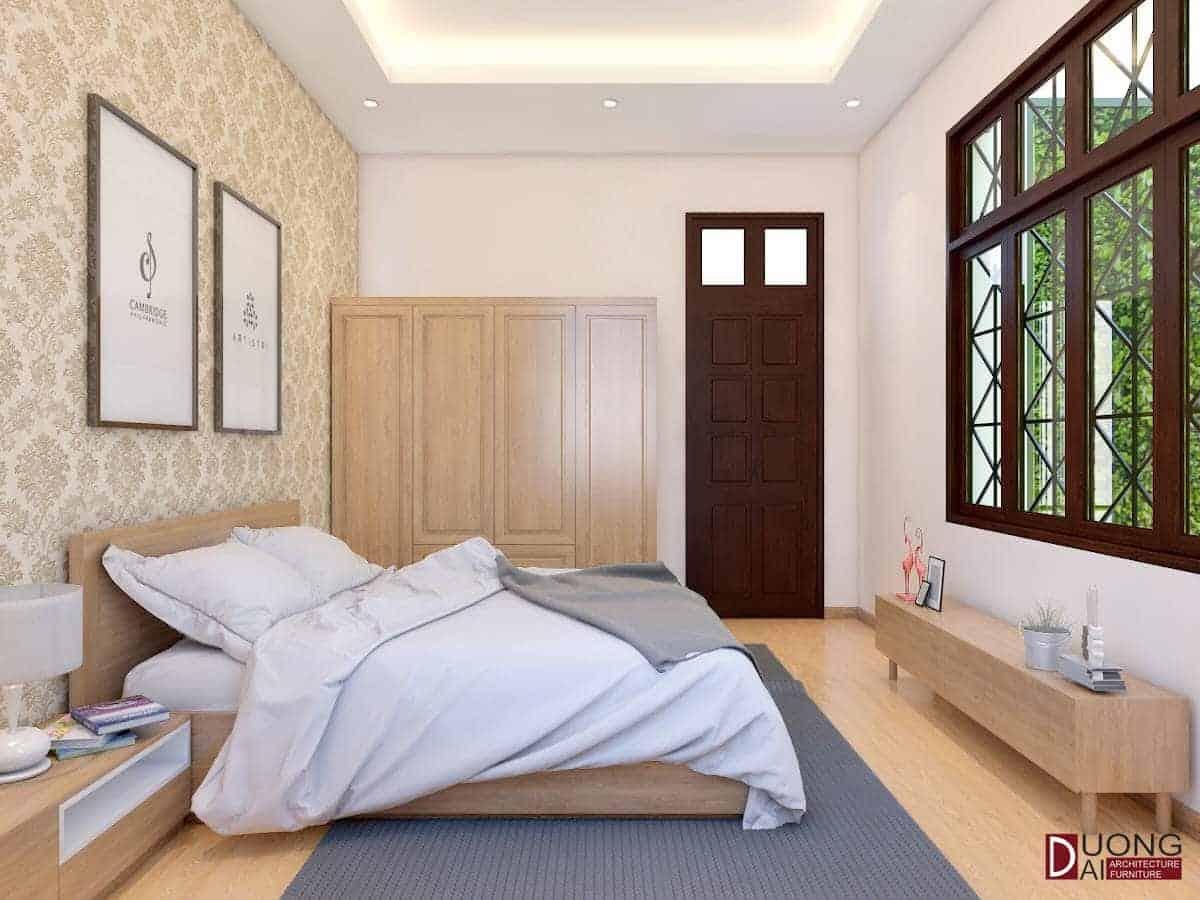 Mẫu tủ gỗ sồi Mỹ màu sáng đầy sang trọng và trang nhã