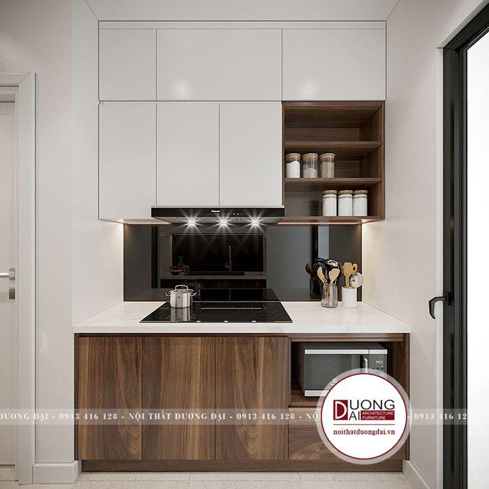 Thiết kế căn hộ 43m2 hiện đại tối ưu công năng cho gia đình