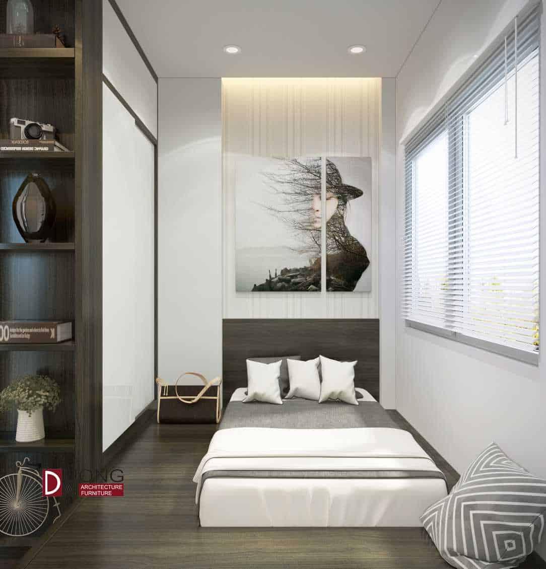 Phòng ngủ nhỏ xinh cho khách theo phong cách Scandinavian