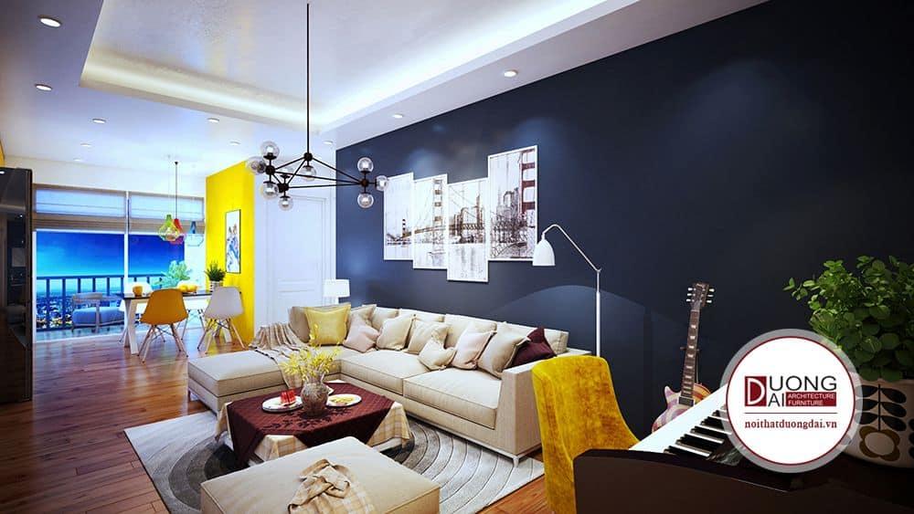 Nhưng căn hộ có diện tích lớn thường rất dễ phối màu theo sở thích cũng mệnh phong thủy của gia chủ.