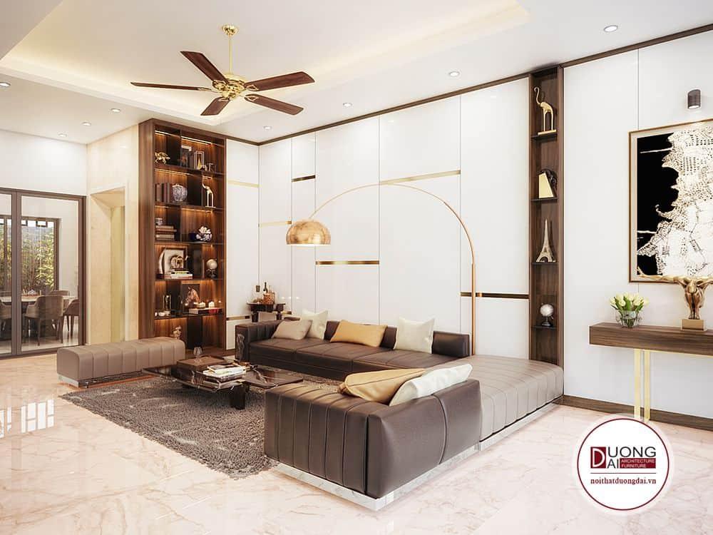 Phòng khách nhà anh Hải - Sơn La với Sofa da đặc biệt.