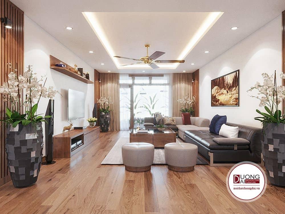 Phòng giải trí hiện đại với sofa thư giãn cho cả gia đình