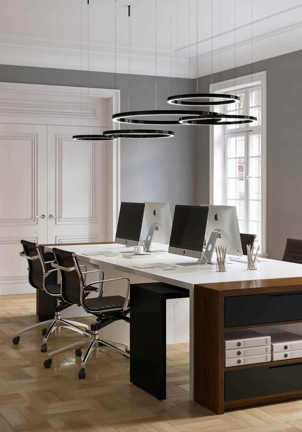 Thiết kế phòng làm việc nhỏ nhưng rất tiện nghi và hiện đại