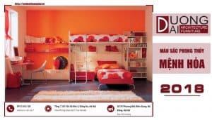 Mệnh hỏa hợp màu gì trong thiết kế nội thất hiện nay