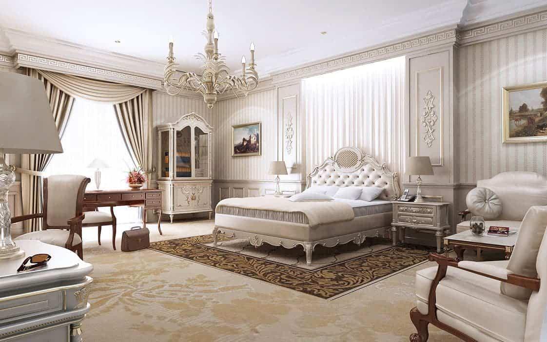 Thiết kế phòng ngủ đầy uy nghi với diện tích phòng 18m2