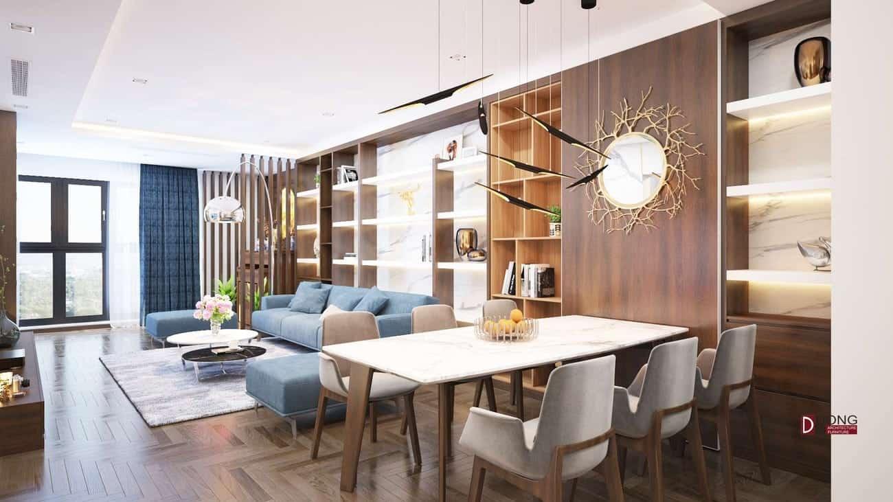 Ván gỗ MDF chống ấm và không chống ẩm được sự dụng cho công trình nhà chị Thủy - Hà Nội.