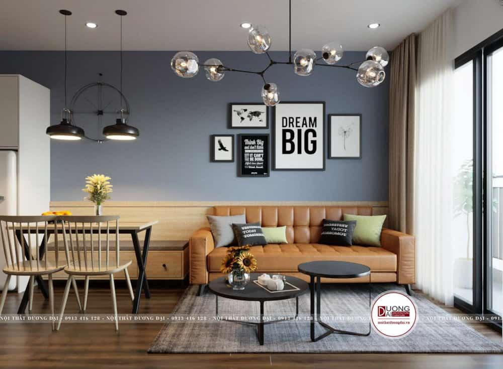 Mẫu thiết kế căn hộ nhỏ xinh cho gia đình trẻ