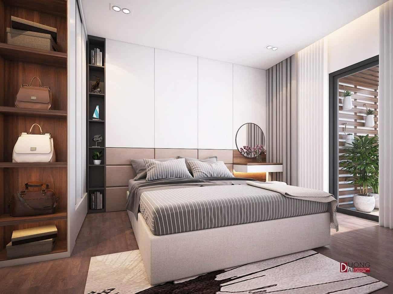 Mẫu thiết kế phòng ngủ đầy ấn tượng với gam màu sáng