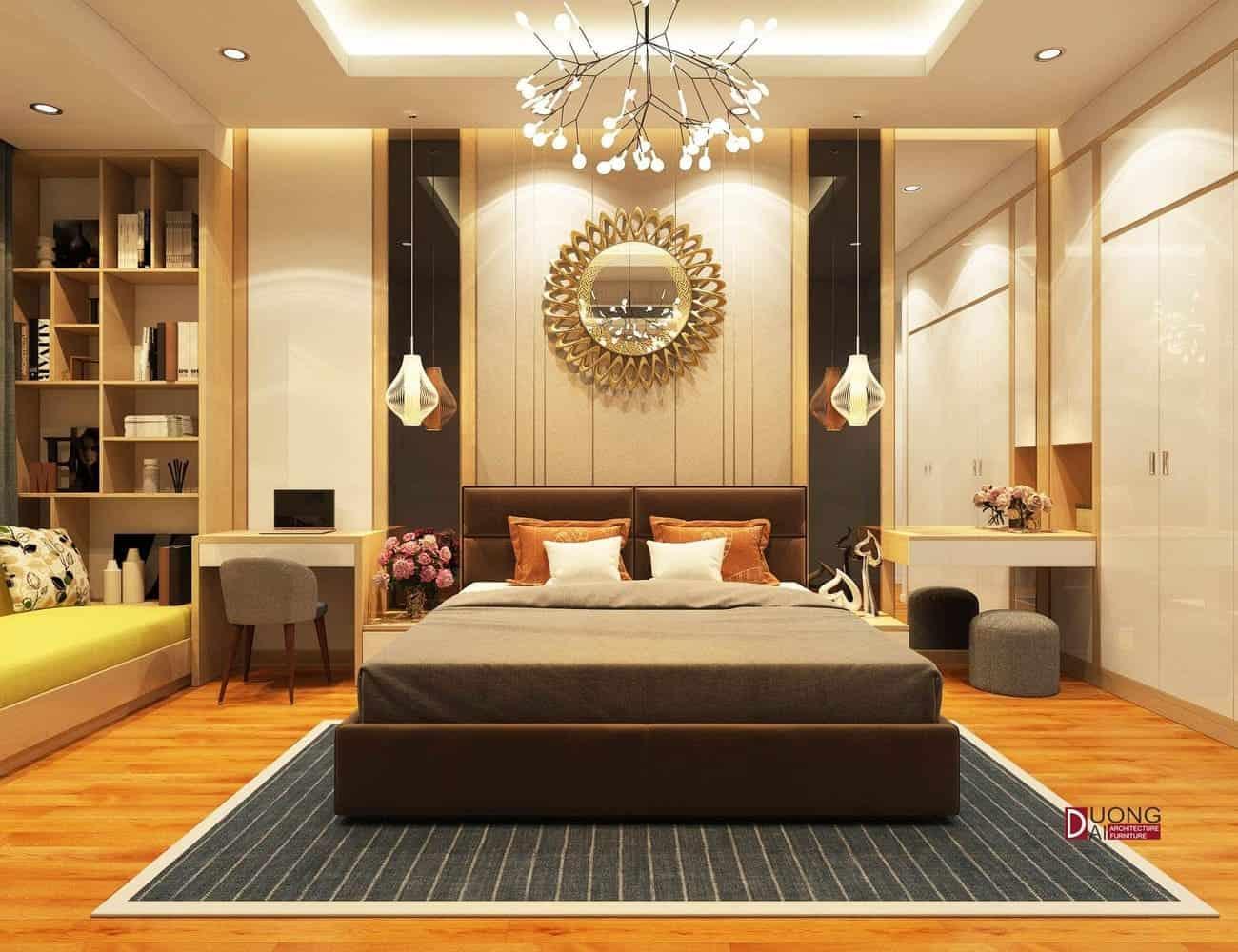 Thiết kế phòng ngủ siêu hiện đại và sang trọng