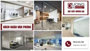 Vách ngăn văn phòng giá rẻ tại Hà Nội thiết kế theo yêu cầu