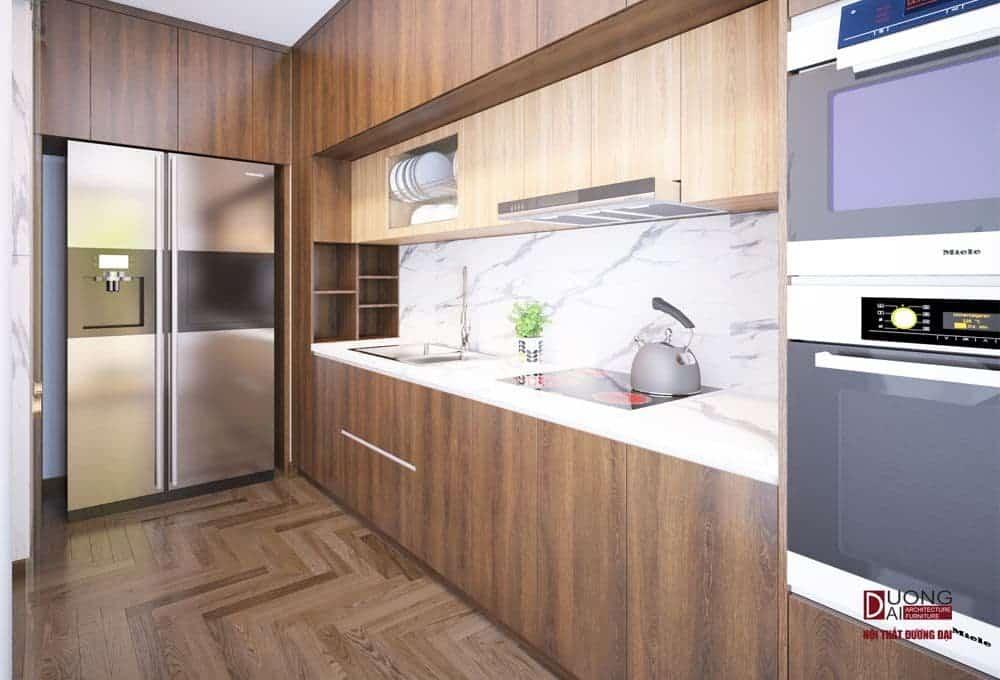 Tủ bếp gỗ An Cường ở Vinhome.