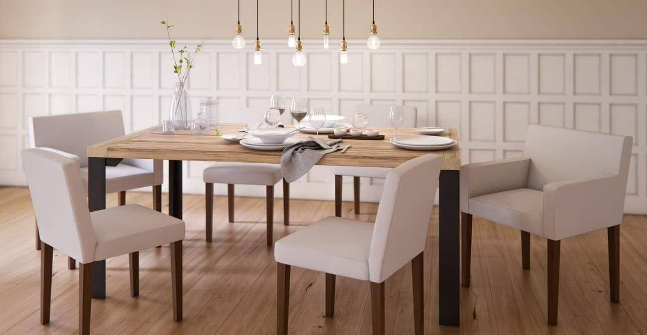Bàn gỗ tần bì tinh tế và trang nhã cho phòng ăn gia đình