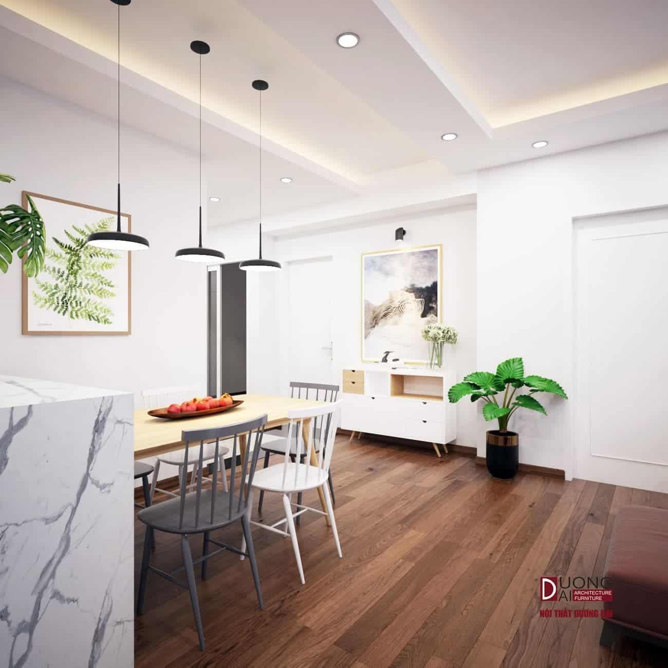 Phòng bếp sang trọng với tủ bếp gỗ MDF siêu bền của An Cường