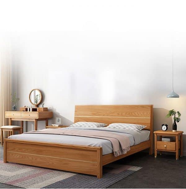 Giường ngủ gỗ sồi Nga 1m8 x 2m - Giá rẻ sang trọng và thoải mái