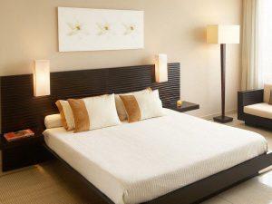 Giường ngủ Laminate - Gỗ công nghiệp với chất liệu MDF chống ẩm