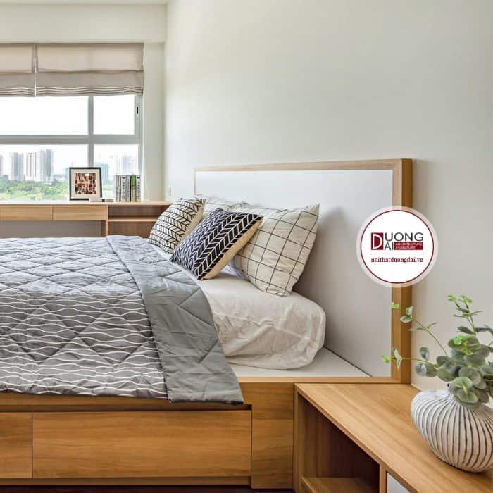 Giường Ngủ Melamine Giá Rẻ  Giường Ngủ Gỗ Công Nghiệp MFC
