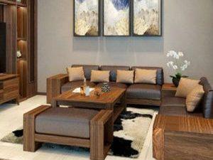 Mẫu sofa gỗ óc chó giá tốt nhất cho khách - SKYGOC70