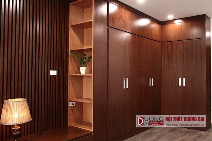 Tủ quần áo 2 cánh gỗ tự nhiên đẹp hiện đại cho phòng ngủ