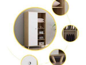Tủ Quần Áo Cửa Lùa Giá Rẻ TA3002 Kiểu Dáng Mới Lạ, Sang Trọng