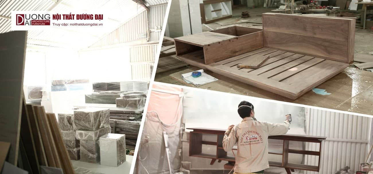 Quy mô xưởng gỗ tự nhiên của Nội Thất Đương Đại