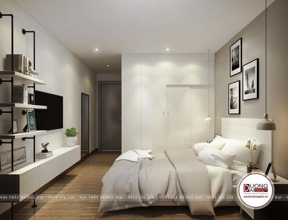 Phòng ngủ đơn giản và dễ chịu của gia chủ