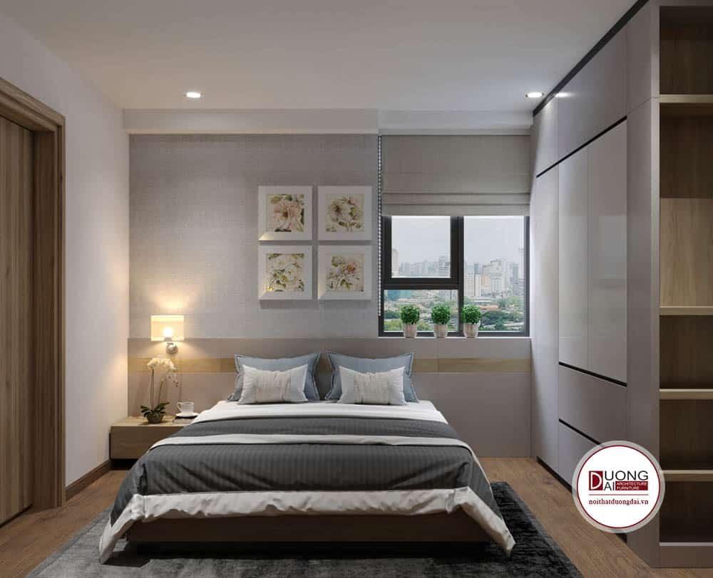 Phòng ngủ siêu đẹp dùng gam màu trung tính