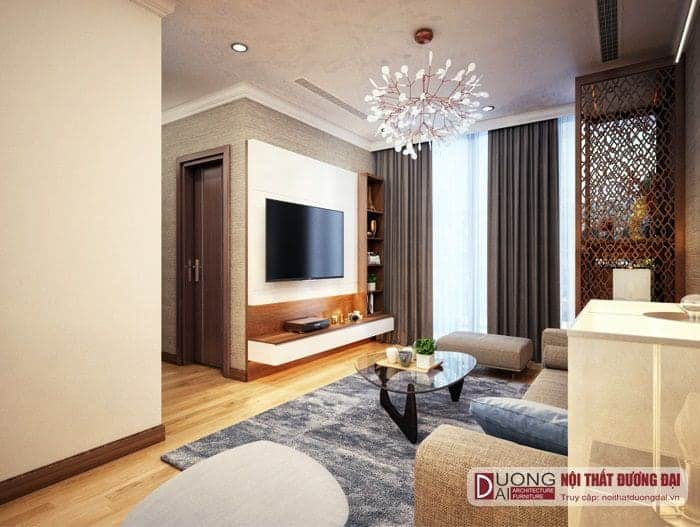 Thiết kế chung cư 50m2 2 phòng ngủ mà không hề có cảm giác chật chội