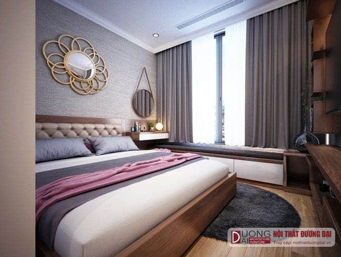 Phòng ngủ Master với giường ngủ Kingsize