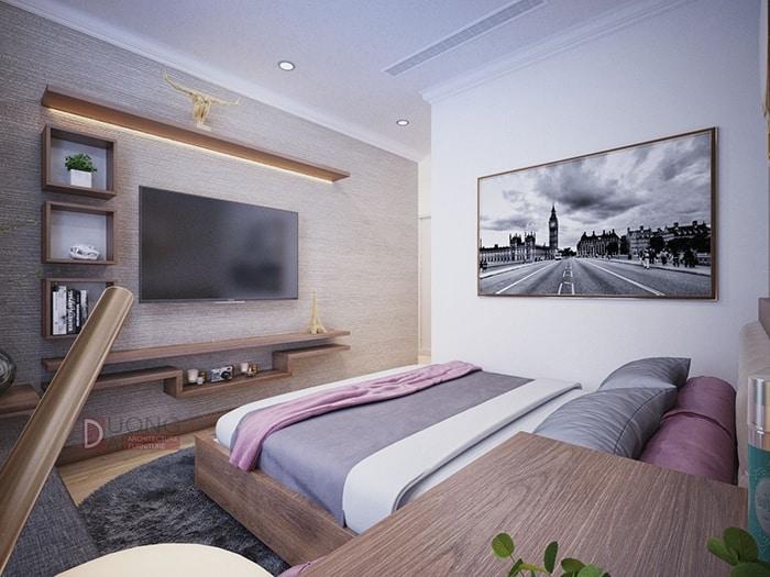 Phòng ngủ sang trọng nhưng không kém phần ấm áp