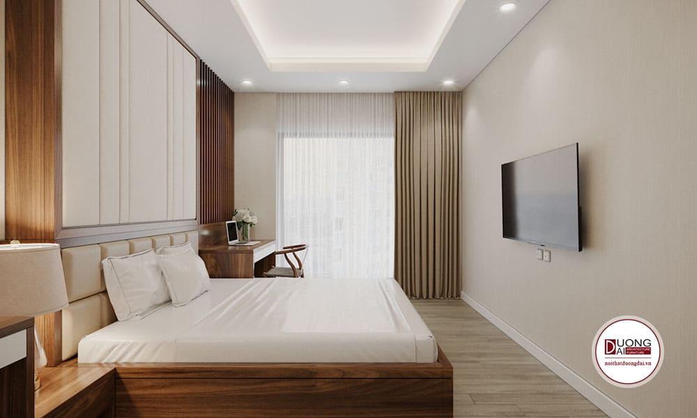Phòng ngủ đầy trang nhã và tinh khôi với màu trắng