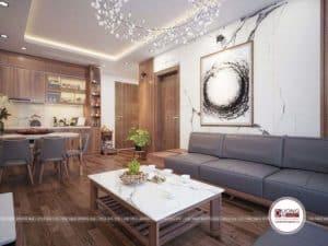 Phòng khách nhỏ xinh với thiết kế đậm cá tính