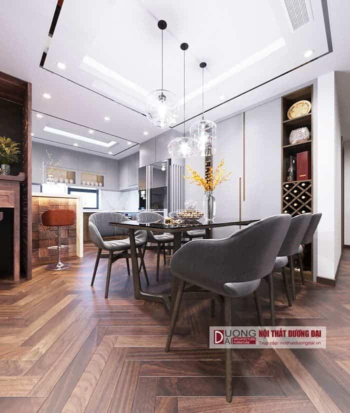 Thiết kế phòng bếp siêu tiện nghi với quầy bar nhỏ
