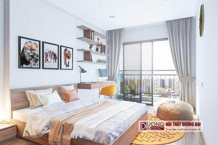 Phòng ngủ Master có tầm nhìn đẹp ra ban công
