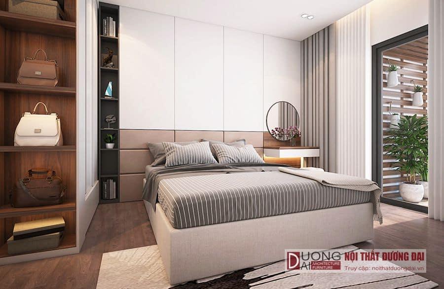 thiết kế nội thất phòng ngủ căn mẫu