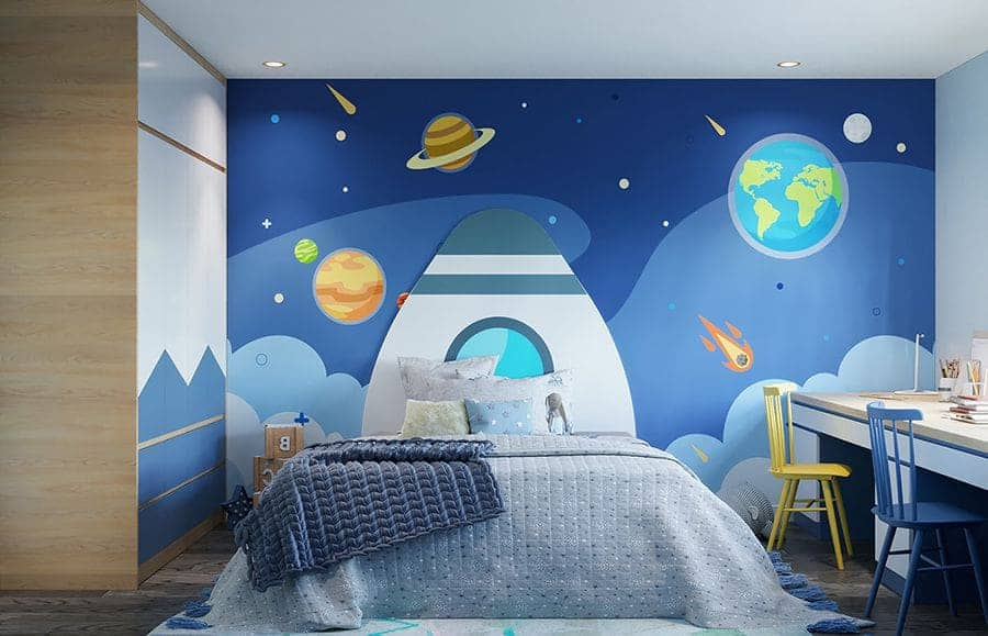 Không gian phòng ngủ cho bé trai