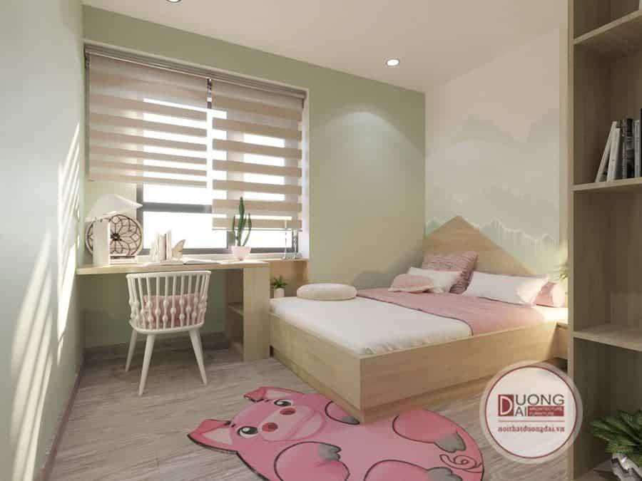 Phòng ngủ cho bé gái nhà anh Hoàng