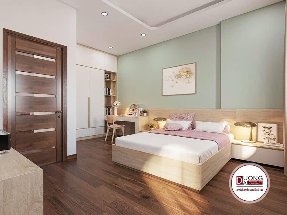 Nội thất phòng ngủ từ gỗ công nghiệp có độ bền cao