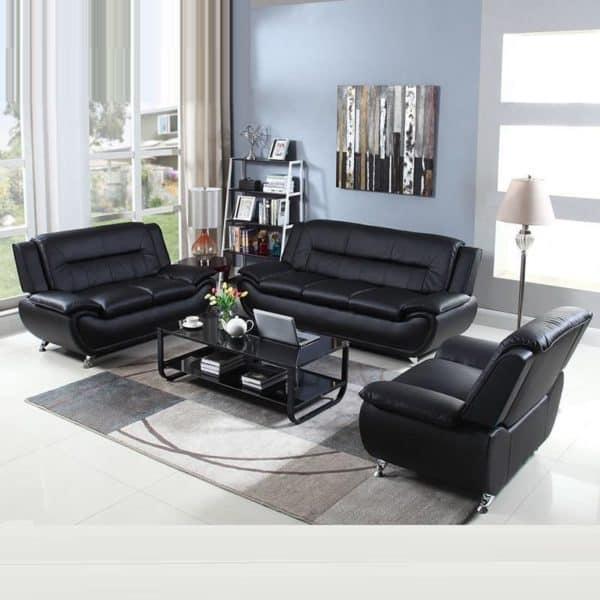 Bộ Sofa Da Sang Trọng Cho Phòng Khách, Văn Phòng, Cửa Hàng