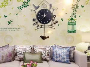 Đồng hồ treo tường trang trí phòng khách GHO-701
