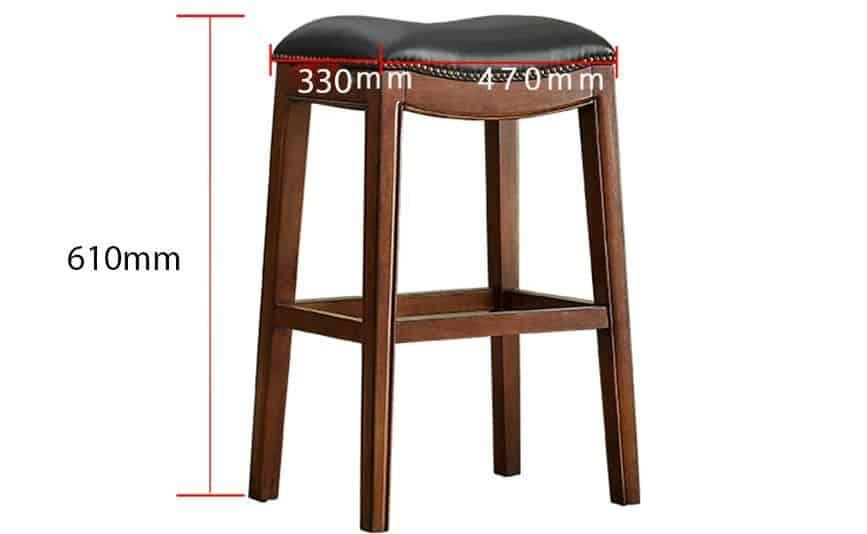 ghế đôn gỗ tự nhiên bọc da GHC-755