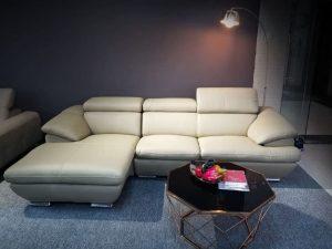Sofa Da Góc Hiện Đại Cho Phòng Khách Sang Trọng Và Tinh Tế