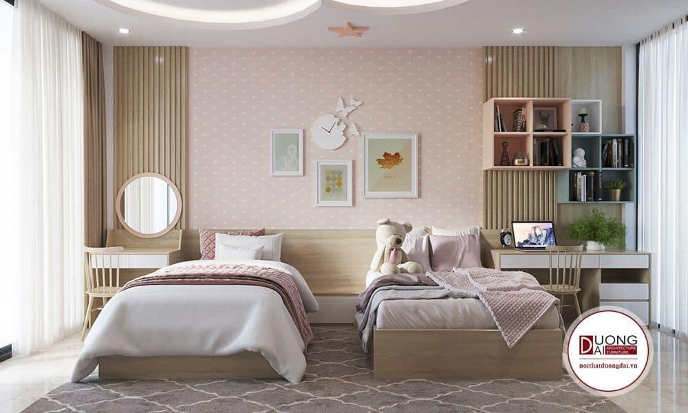 Phòng ngủ cho bé gái với thiết kế vô cùng đáng yêu