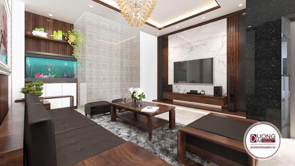 nội thất phòng khách xanh tươi