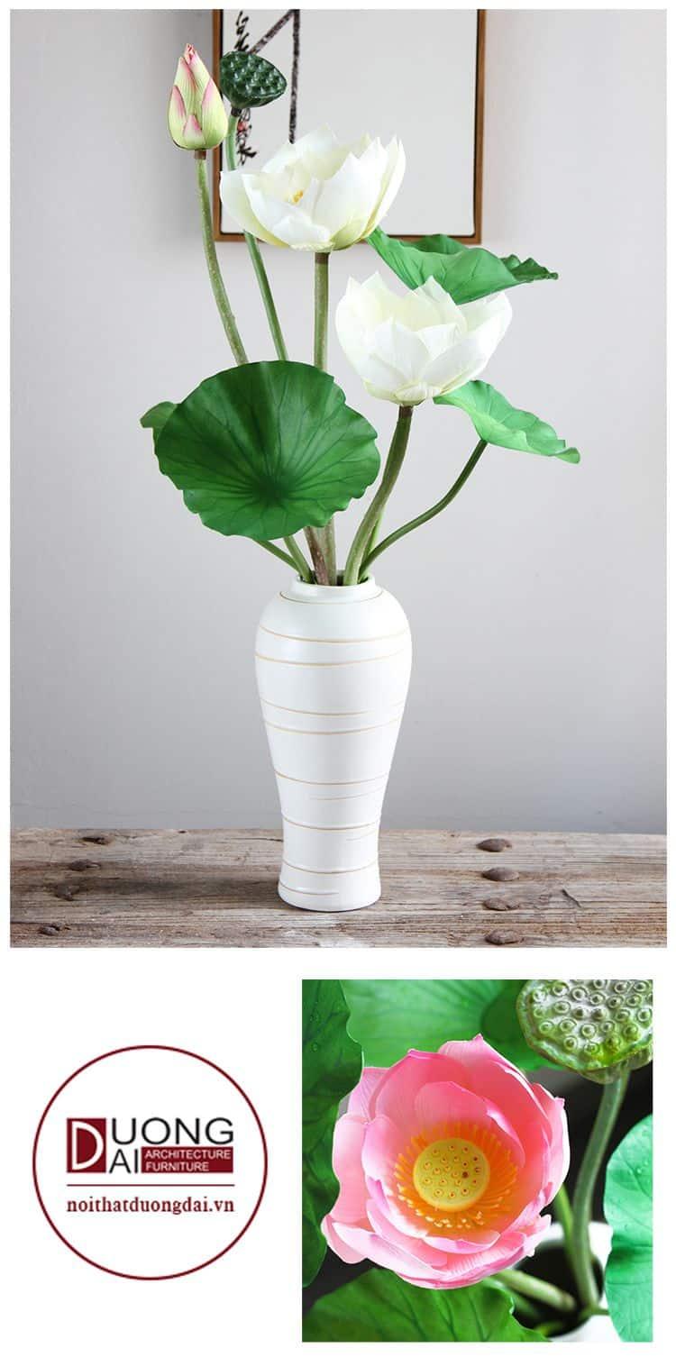 Hoa sen lụa trang trí cao cấp đẹp, sang trọng và ấn tượng