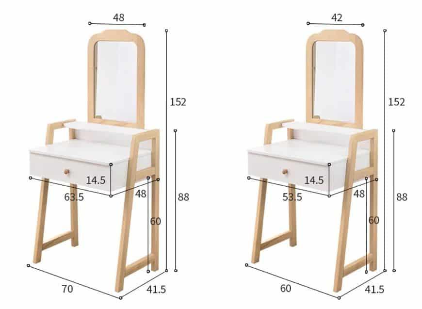 Xác định kích thước bàn để bài trí cho phù hợp