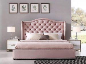 Mẫu giường bọc da cao cấp